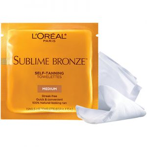 L'Oreal Offers Free Self-Tanning Towelettes