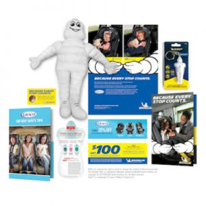 Free Michelin Man Plush Doll, Car Tools