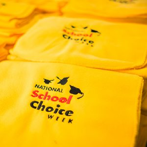 Free Scarves, Signs from National School Choice Week