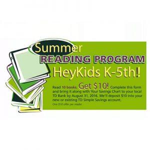 $10 for Kids Reading in Summer