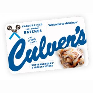 Free Culver's Gift Card or Single Scoop for Winners