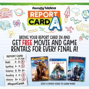 Free Movie or Game Rentals for Students K – College