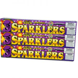 Free Pack of Gold Sparklers from Phantom Fireworks