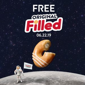 Free Original Filled Doughnut from Krispy Kreme