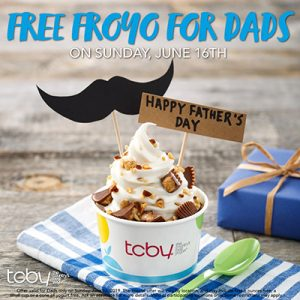 Free Froyo Yogurt for Dads
