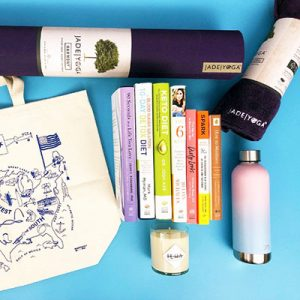 Free Yoga Mat, Tote, Books for Winner