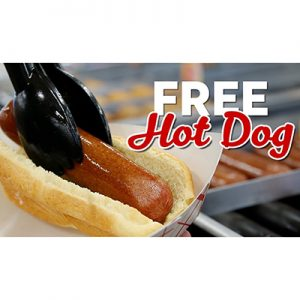 Free Hot Dog on July 17