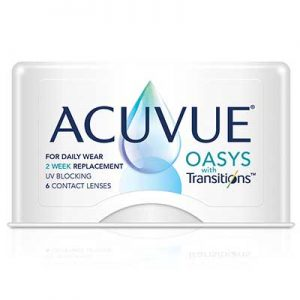 Free Acuvue Oasys with Transitions Contact Lenses