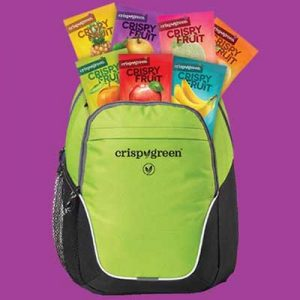 Free Backpack with Crispy Fruit Snacks for Winners