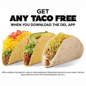 Free Taco with Del App