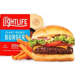 Free Lightlife Plant-Based Burger from Moms Meet