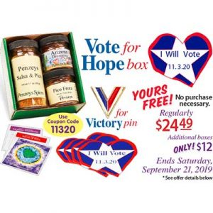 Free Penzeys Vote for Hope Box