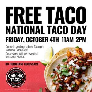 Free Taco on October 4