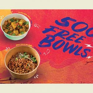 Free Noodle or Curry Bowls on October 1-2