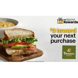 Free $3 Panera Bread with My Sprint Rewards