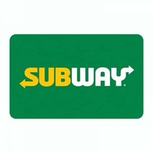 Free $5 Subway eGift Card for Winners