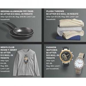 Free Bath Rugs, T-Shirts, Watches after Rebate at Macy's