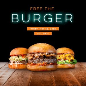 Free Burger and Fries on November 15