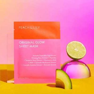 Free Peach and Lily Original Glow Sheet Mask