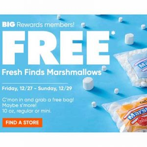 Free Fresh Finds Marshmallows at Big Lots