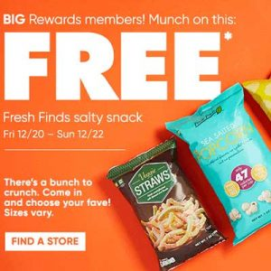 Free Fresh Finds Salty Snack at Big Lots