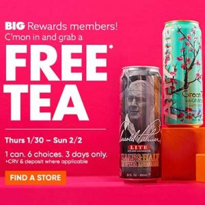 Free AriZona Tea at Big Lots