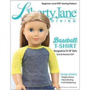 Free Baseball T-Shirt Doll Clothes Pattern