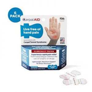 Free CarpalAID Pain Relief Patches