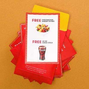 Free Festive Red Envelope at Panda Express