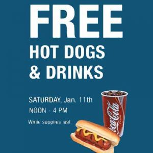 Free Hot Dogs and Drinks at RC Willey