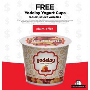 Free Yodelay Yogurt Cup at Cub