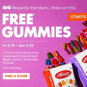 Free Gummies at Big Lots
