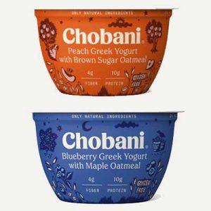 Free Chobani Greek Yogurt with Oatmeal