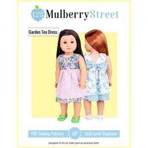 Free Garden Tea Dress Doll Clothes Sewing Pattern