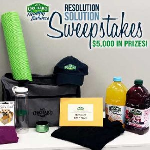 Free Gift Card, Year's Supply of Juice, Apparel for Winners