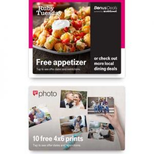 Free Appetizer and 10 4×6 Prints for T-Mobile Customers