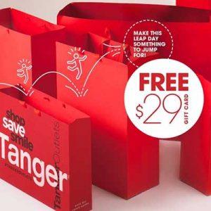 Free $29 Tanger Gift Card