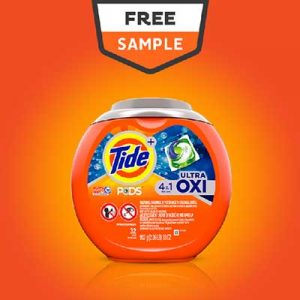 Free Tide Pods Oxi and More from Freeosk