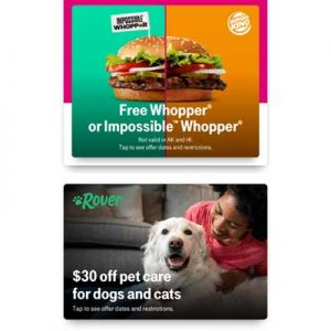 Free Whopper or Impossible Whopper for T-Mobile Customers