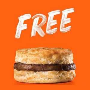 Free Sausage Biscuit at Hardee's on March 9