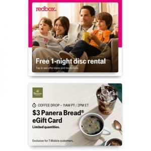 Free $3 Panera Bread eGift Card for T-Mobile Customers