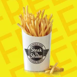 Free Fries at Stake 'n Shake
