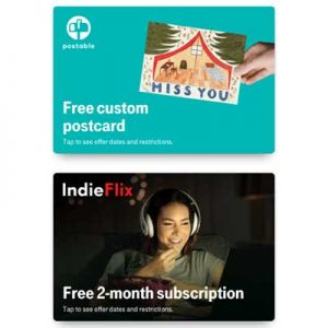 Free Postcard, IndieFlix for T-Mobile Customers