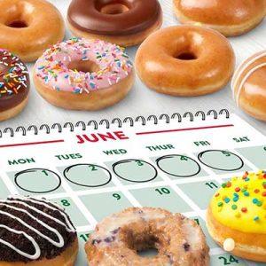 Free Doughnut at Krispy Kreme