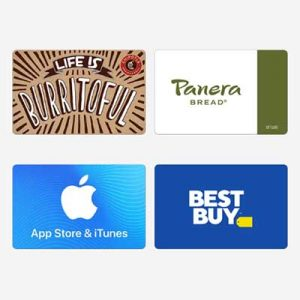 Free $5 E-Gift Cards