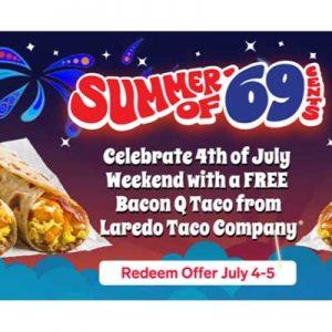 Free Bacon Q Taco