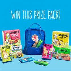 Free Fjallraven Backpack and Bobo's Oat Bars for Winners