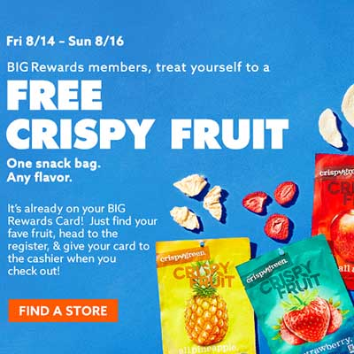 Free Crispy Fruit at Big Lots