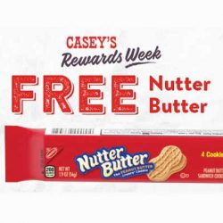 Free Nutter Butter at Casey's