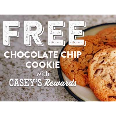 Free Chocolate Chip Cookie at Casey's